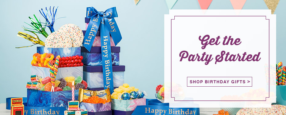 Get The Party Started! Shop Birthday Gifts