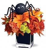 Roses: Spooky Spider Bouquet