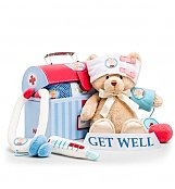 Baby Gift Baskets: Get Well Plush Doctor's Play Set