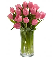 Flower Bouquets: Pink Prelude Tulip Bouquet